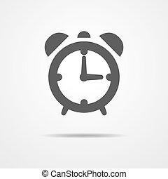 Alarm clock icon - vector illustration.