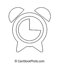 alarm clock icon vector illustration