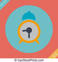 Alarm clock icon - vector illustration