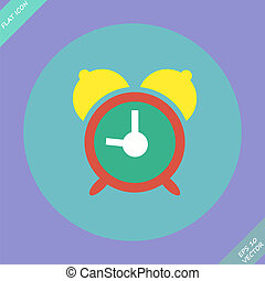 Alarm clock icon - vector illustration.