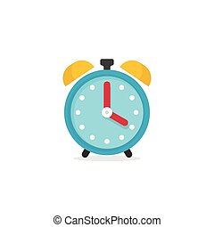 Alarm clock icon vector illustration isolated on white background