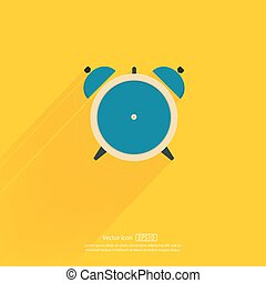 Alarm clock icon. Vector illustration.