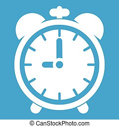 Alarm clock icon white
