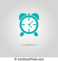 alarm clock icon with shadow