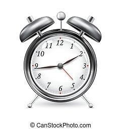 illustration ofalarm clock on isolated white background