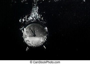 Alarm clock in water