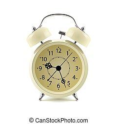 Alarm clock isolated on white background