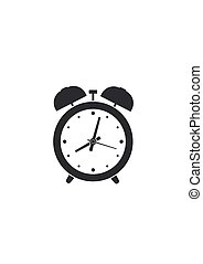Alarm clock isolated on white background. Vector illustration