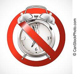 Alarm clock - no wake up - no deadline