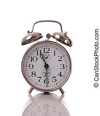 Alarm clock isolated on white