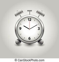 Alarm clock on white background isolated