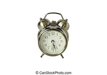 Alarm-clock on white background