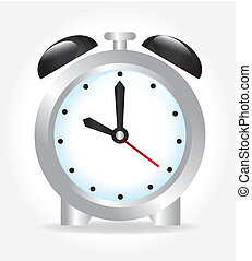 alarm clock over white background vector illustration