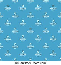 Alarm clock pattern vector seamless blue
