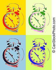 Alarm clock pop art image