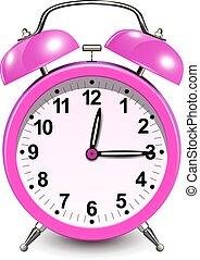 Alarm clock pink