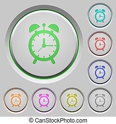 Alarm clock push buttons