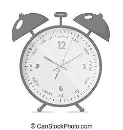 Alarm clock. Realistic style.
