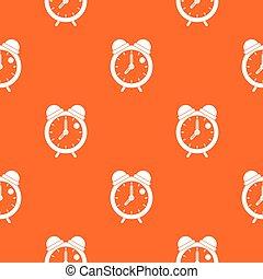Alarm clock retro classic design pattern seamless