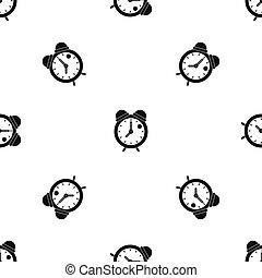 Alarm clock retro classic design pattern seamless black