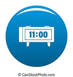 Alarm clock retro icon blue