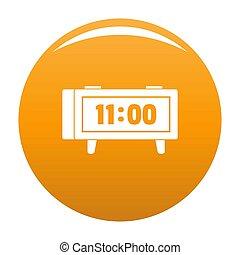 Alarm clock retro icon orange