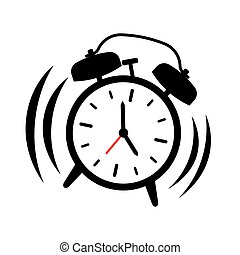alarm clock ringing isolated alarm clock ringing and shaking Transparent Cartoon Clock 5 AM alarm clock ringing vector illustration