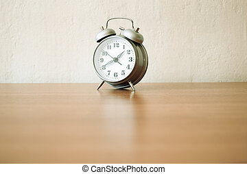 alarm clock - russian vintage clock on the table, selective ...