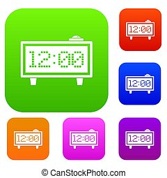 Alarm clock set color collection