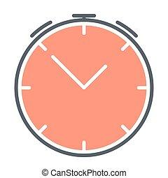 Alarm clock silhouette icon. Vector symbol