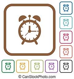 Alarm clock simple icons