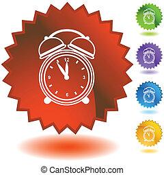 Alarm clock Starburst Icon Set