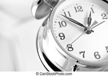 Alarm Clock - Double bell alarm clock isolated on a white...