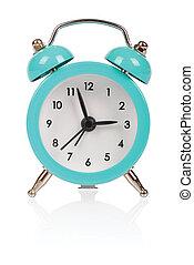alarm clock - Old fashioned alarm clock on white background