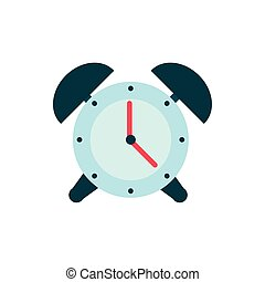 alarm clock time education school icon design