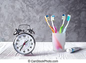 alarm clock time to brush teeth
