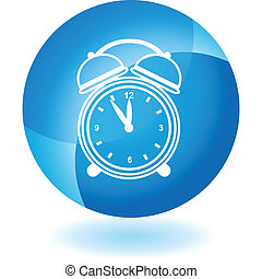 Alarm clock Transparent Blue Icon