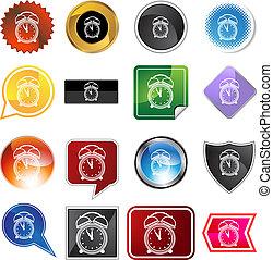 Alarm clock Variety Icon Set