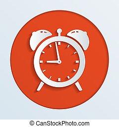 alarm clock - illustration of alarm clock ringing