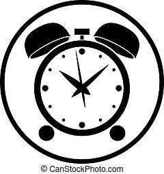Alarm clock vector icon.