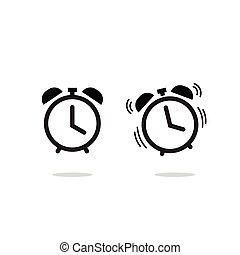Alarm clock vector icon isolated on white background