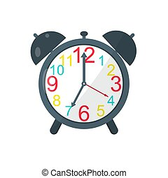 Alarm Clock. Vector icon isolated on white background. Vector illustration.