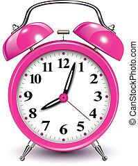 Alarm clock, vector illustration.