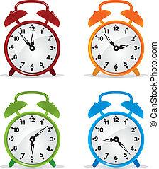 Alarm clock. Vector illustration for you design
