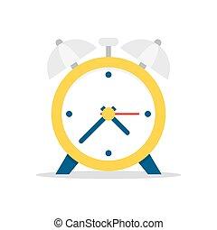 Alarm clock. vector illustration