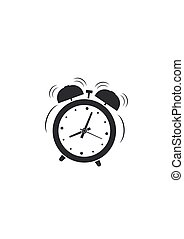 Alarm clock wake-up time icon isolated on white background. Vector illustration