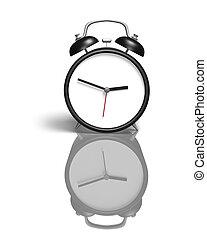 Alarm clock with blank face