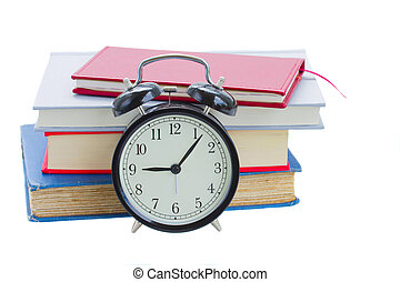 alarm clock with books