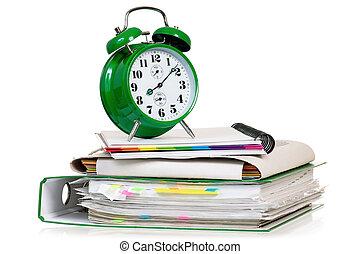 Alarm clock with folders