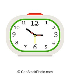 Alarm clock with red button